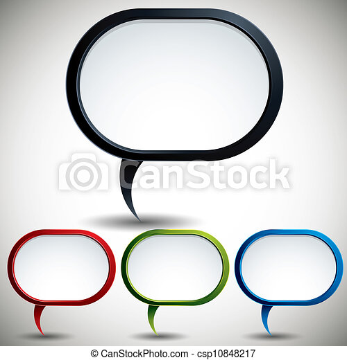 Modern style speech bubble. - csp10848217