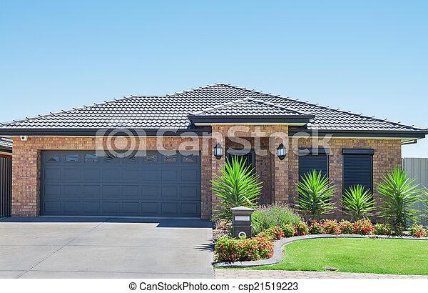 Modern Suburban House - csp21519223