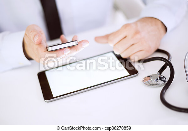 Modern technology and medicine - csp36270859
