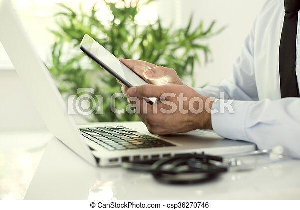 Modern technology and medicine - csp36270746