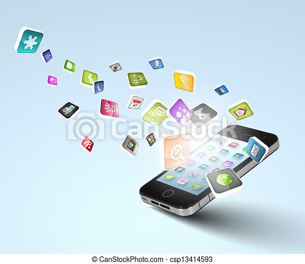 modern technology media - csp13414593