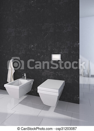 Toilette Modern modern toilet interior stock illustration search eps clip