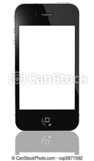 Modern touch screen phone isolated - csp5871592