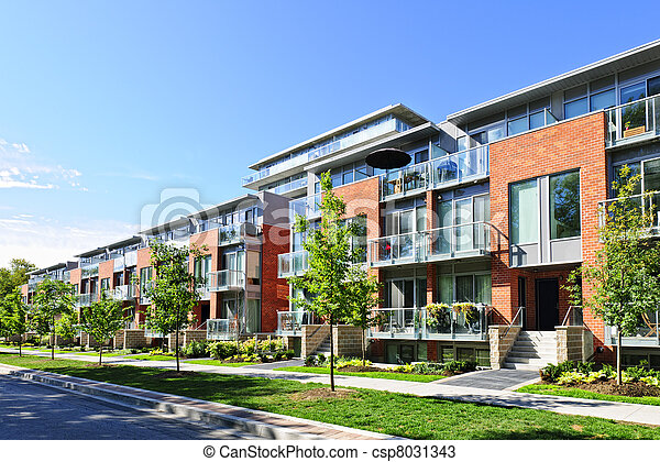 Modern town houses - csp8031343