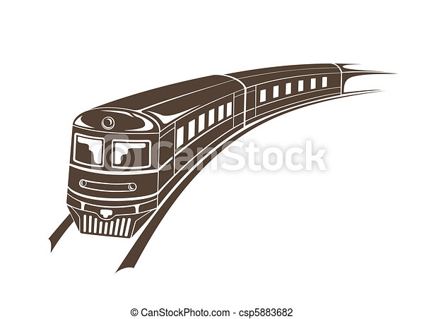 Modern train simple vector illustration vector ...
