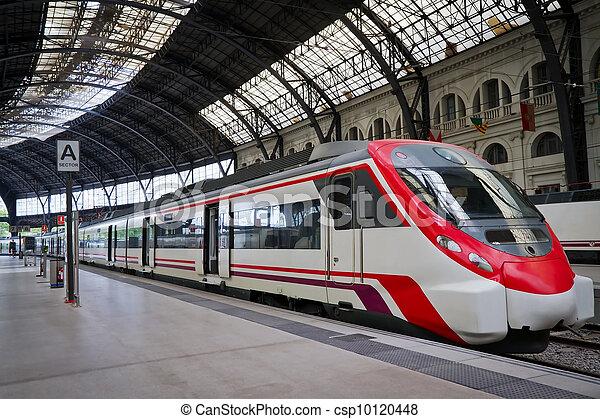 Modern train station - csp10120448