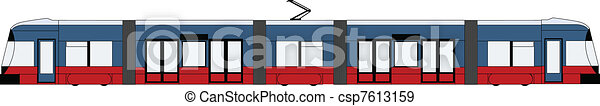 modern tram - csp7613159