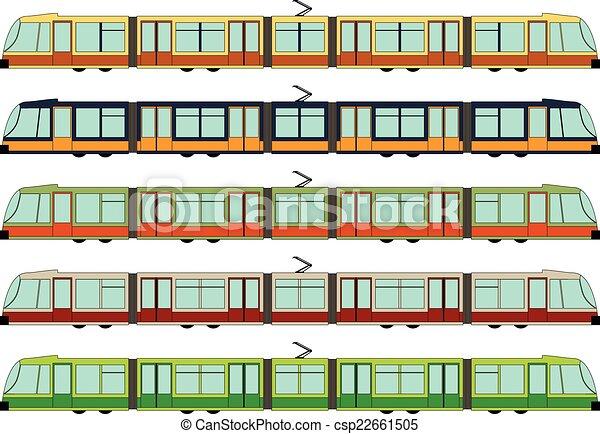 Modern tram - csp22661505