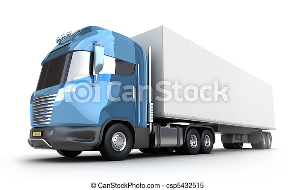 Modern truck with cargo container - csp5432515