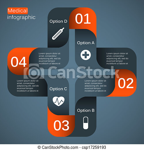 Modern vector template for your medical project - csp17259193