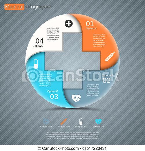Modern vector template for your medical project - csp17228431