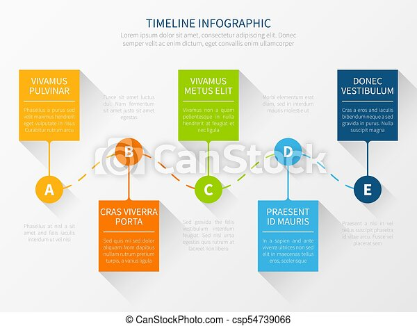 modern vector timeline workflow chart infographic concept for
