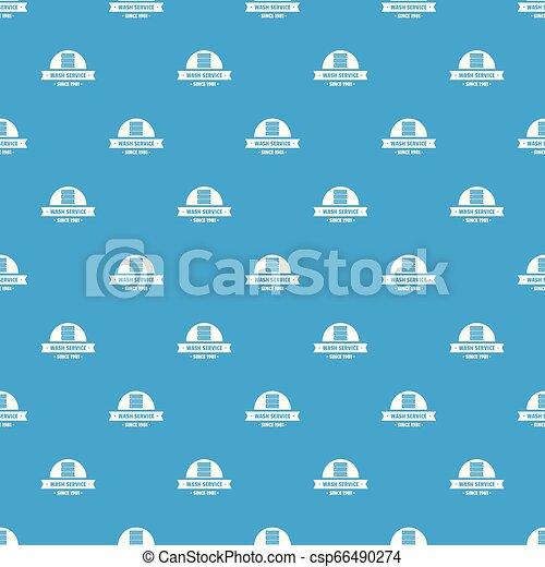 Modern wash service pattern vector seamless blue - csp66490274