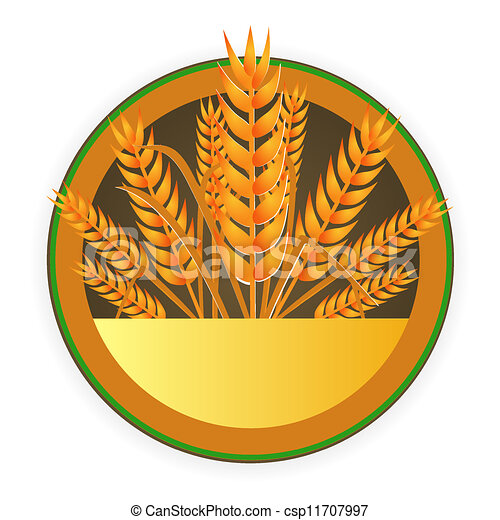 modern wheat sign - csp11707997