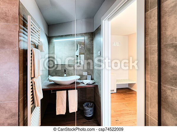 Modern White Bathroom Design At Luxury Interior Italy Modern White Bathroom Design At Luxury Interior Of Home House Or Hotel Canstock