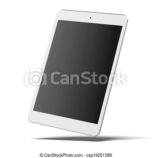 Modern white tablet pc - csp19251389