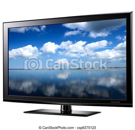 Modern widescreen tv - csp6370123
