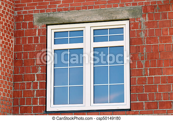 Modern window in building house - csp50149180
