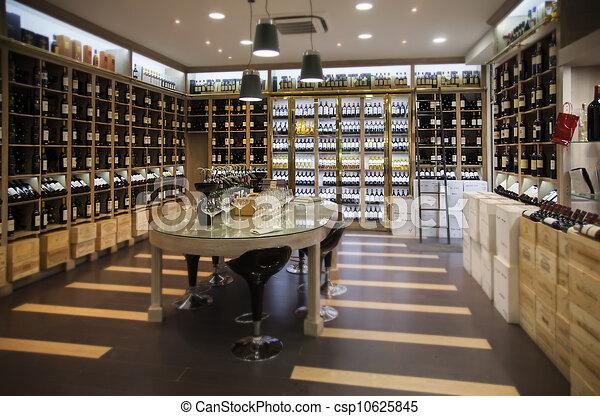 modern wine shop - csp10625845