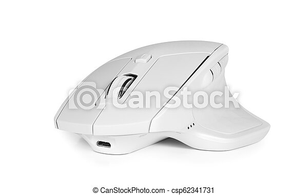 d3b191f6f28 Modern wireless computer mouse isolated on white. Modern wireless ...