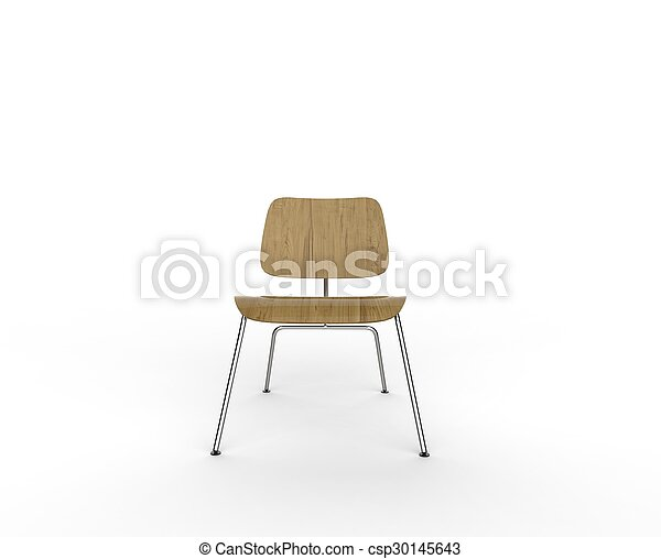 wooden chair front view. Modern Wooden Chair Front View - Csp30145643 R