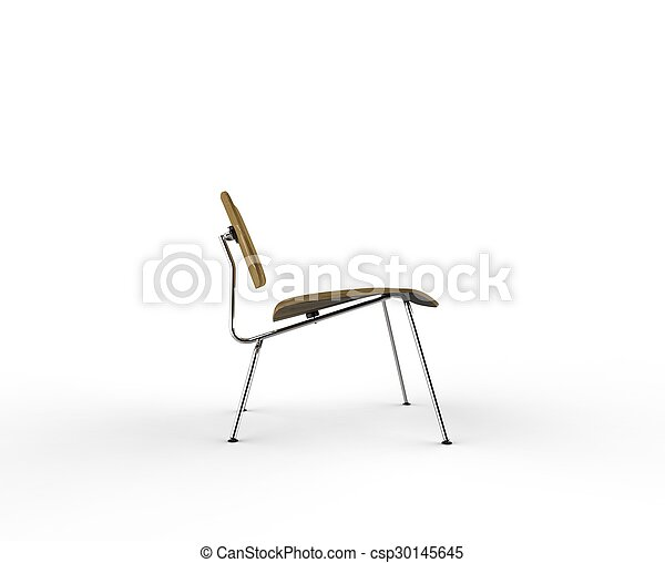 wooden chair side. Modern Wooden Chair Side View - Csp30145645