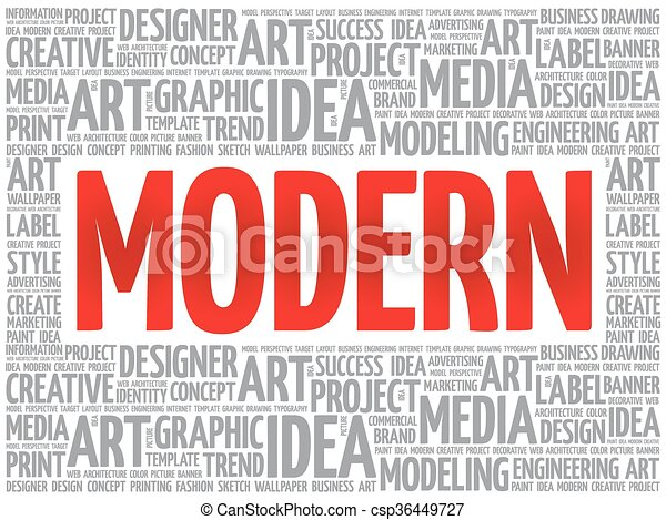 modern word cloud creative business concept background