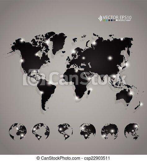 Modern world map design vector illustration vector clip art modern world map design vector illustration gumiabroncs Gallery