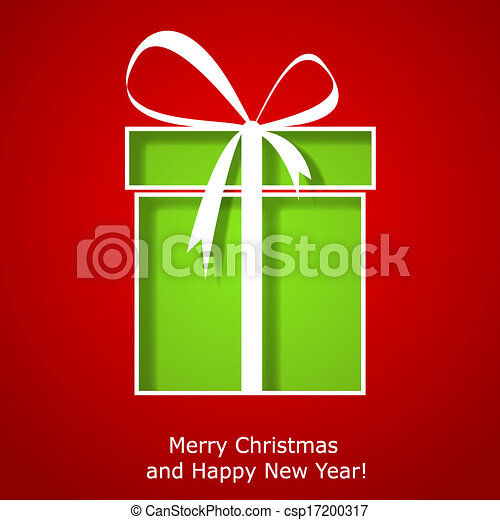 Modern xmas greeting card with christmas gift box vector eps10 modern xmas greeting card with christmas gift box csp17200317 m4hsunfo
