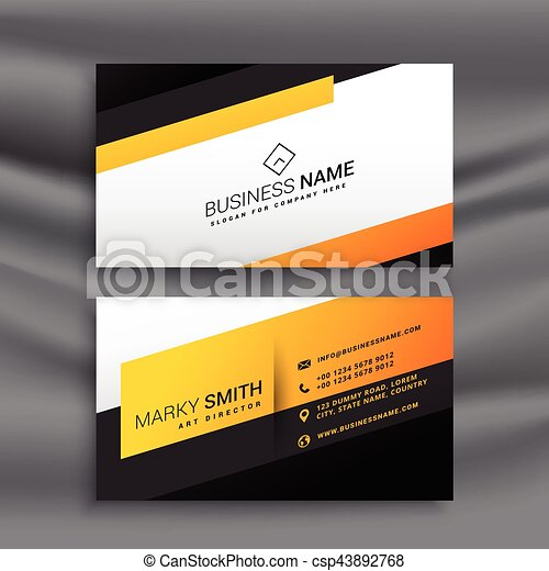 Modern yellow and black business card design modern yellow and black business card design csp43892768 colourmoves
