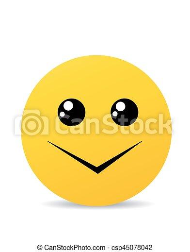 Modern yellow laughing happy smile - csp45078042