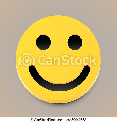 Modern yellow laughing happy smile. Vector - csp50949883