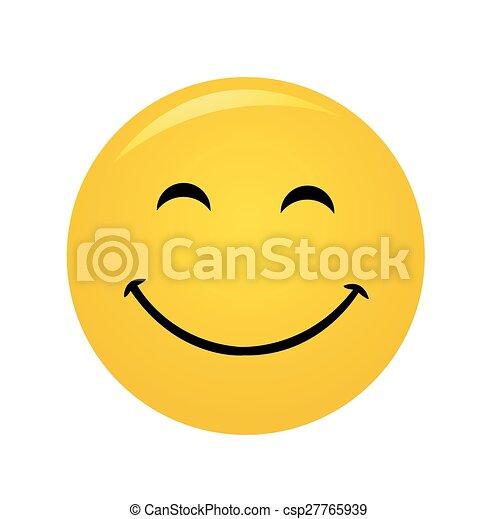Modern yellow laughing happy smile - csp27765939