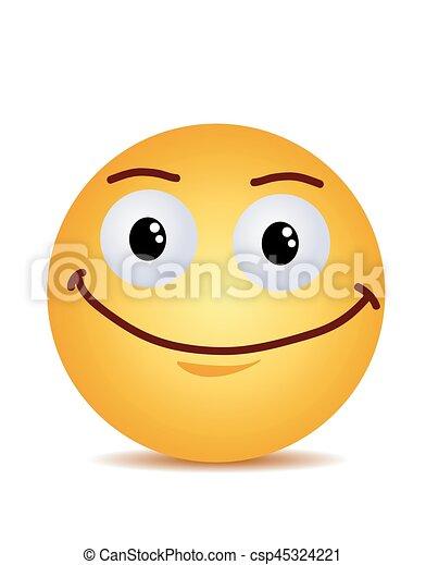 Modern yellow laughing happy smile - csp45324221