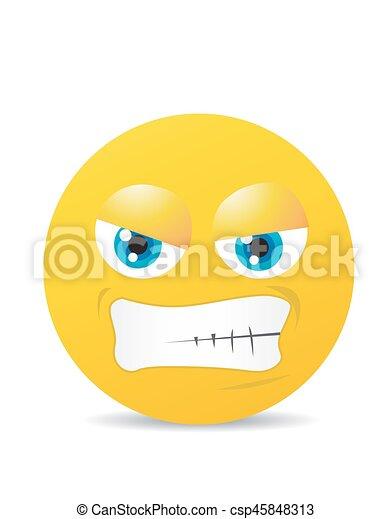 Modern yellow laughing happy smile - csp45848313