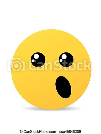 Modern yellow laughing happy smile - csp45848309