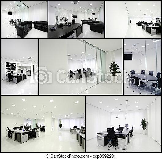 moderne, bureau - csp8392231