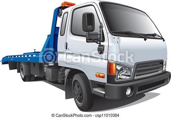 moderne, camion, remorquage - csp11010384