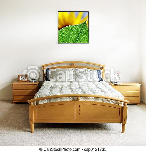 moderne, chambre à coucher - csp0121735