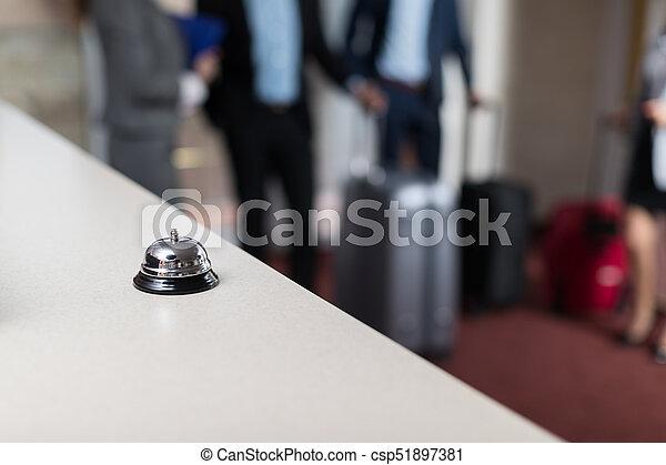Moderne cloche hôtel luxe bureau réception compteur compteur