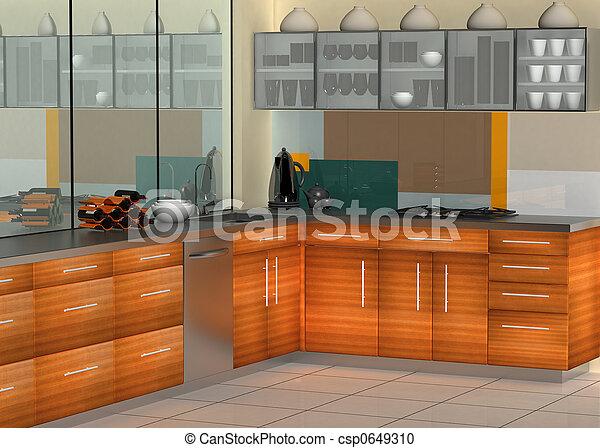 moderne, cuisine - csp0649310