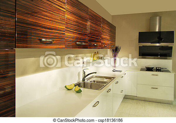 moderne, cuisine - csp18136186