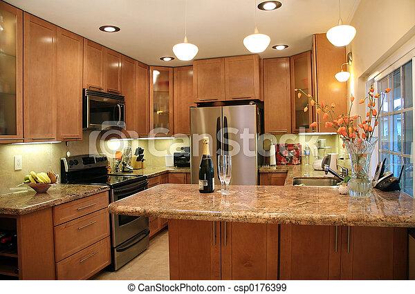 moderne, cuisine - csp0176399