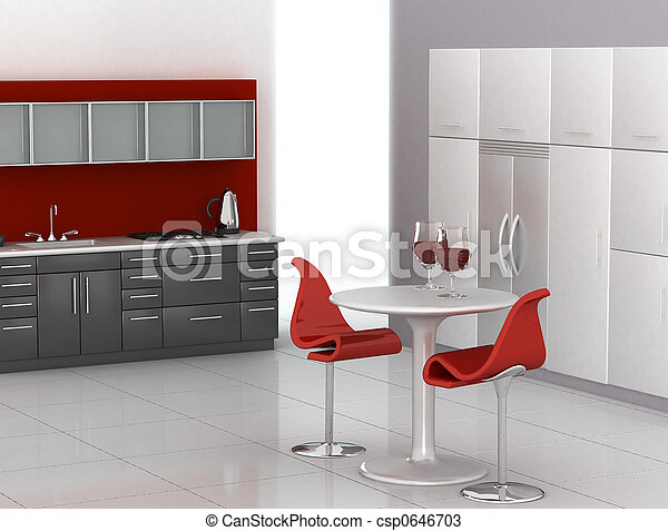moderne, cuisine - csp0646703