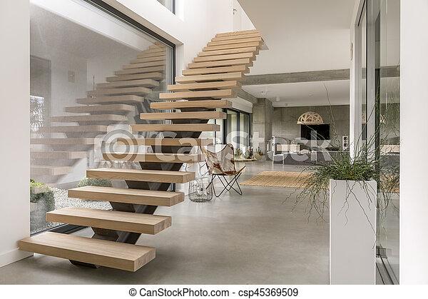 Intrieur Moderne Escalier Villa Minimalistic Photographie De