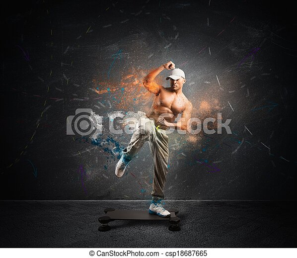 moderne, fitness - csp18687665