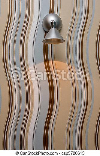 moderne, fond, lampe - csp5720615
