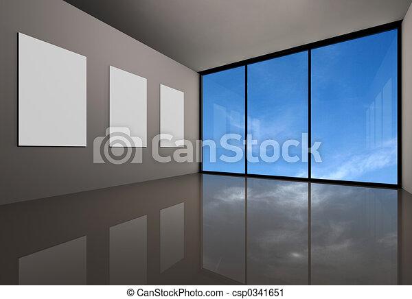 moderne, galerie - csp0341651
