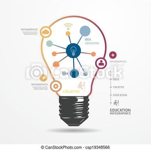 moderne, infographic, ontwerp, stijl, opmaak, /, mal, infographics, cutout, minimaal, website, zijn, gebruikt, horizontaal, genummerde, grafisch, licht, lijnen, vector, groenteblik, banieren, of, punt - csp19348566
