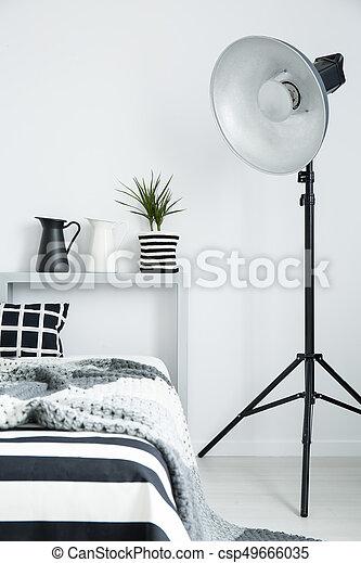 Moderne, King Size, Lit, Chambre À Coucher